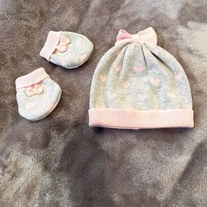 MAYORAL beanie and mittens Sz 12 M D1